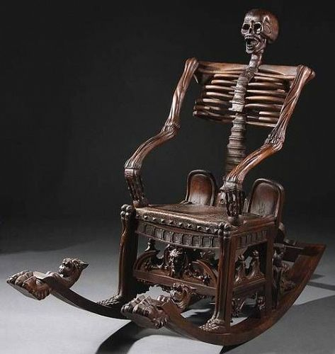 a memento mori chair