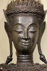 a bronze ayutthaya  adorned buddha figure