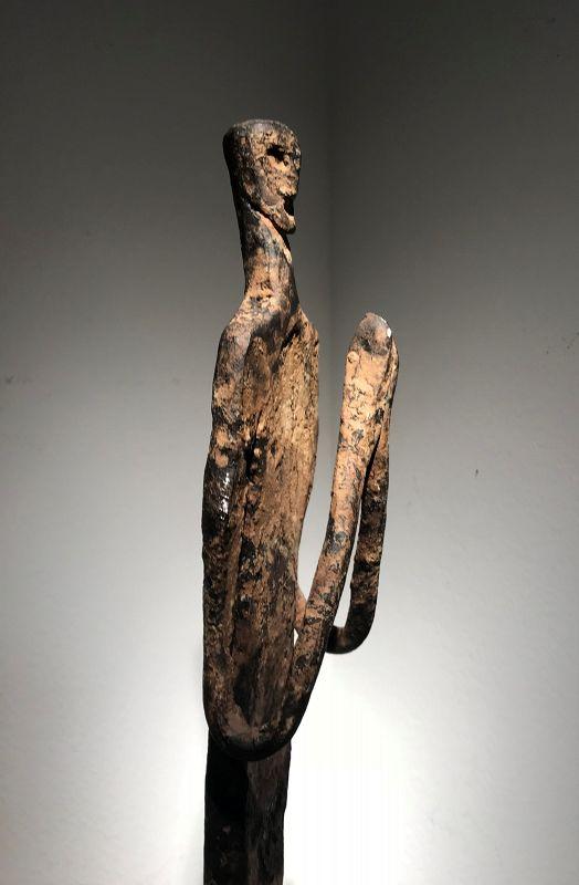 a superb nepalese iron figure
