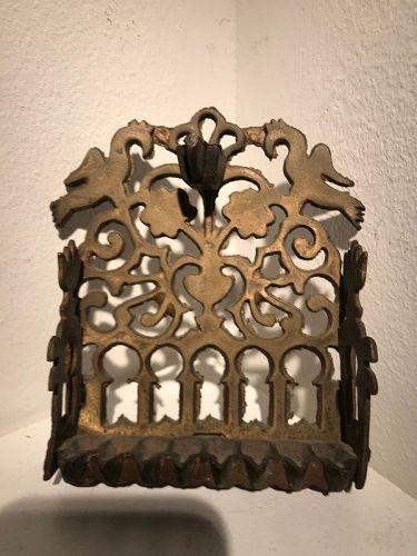 ,hanukkah lamp  marocco brass