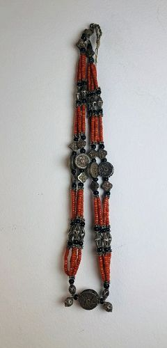 kazakh coral necklace ,