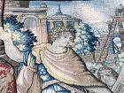 a Delft Tapestry, tapisserie de Delft 17th' the Rome construction'