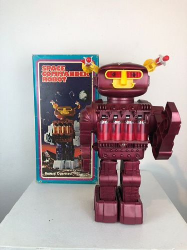 space commander robot , funny toys,Macao,1970's