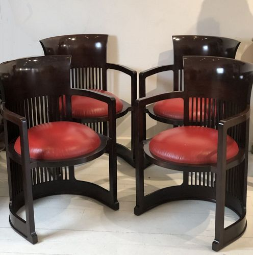 4 barrel chairs ,Frank lloyd wright,Cassina
