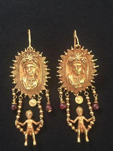 golden earrings antique revival