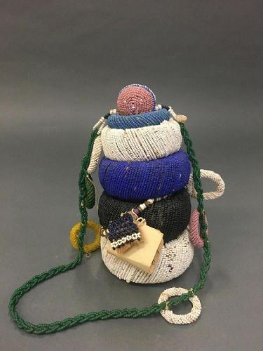 ndebele beaded  doll, south africa