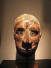 beautiful overmodeled skull,iatmul,papua new guinea