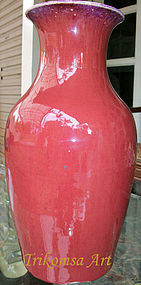 Flambé Glaze Vase Qing Dynasty