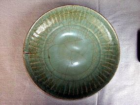 Celadon Crackled Platter Song Dynasty