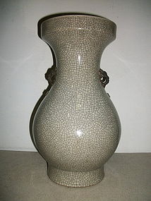 A CRACKLE-GLAZED VASE
