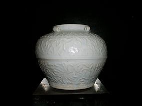 SONG/YUAN QINGBAI JAR WITH FOUR LUGS