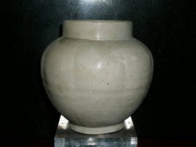 EARLY NOTHERN SONG  LOBBED-SHAPED JAR