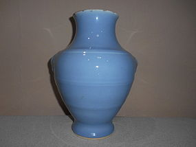 CHINESE LIGHT-BLUE GLAZE VASE