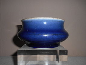 CHINESE BLUE-GLAZED CENSER