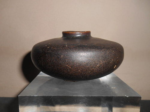 CHINESE BROWN-GLAZED JAR