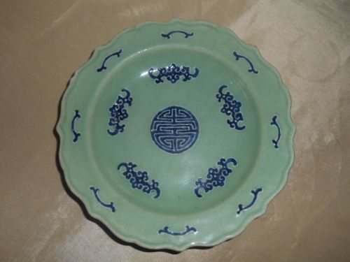 CHINESE CELADON PLATE