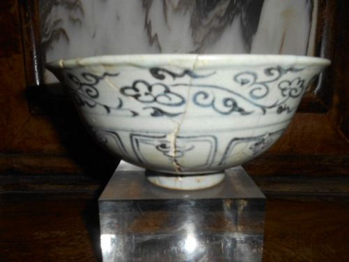 YUAN BLUE AND WHITE BOWL