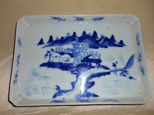 CHINESE BLUE & WHITE TRAY