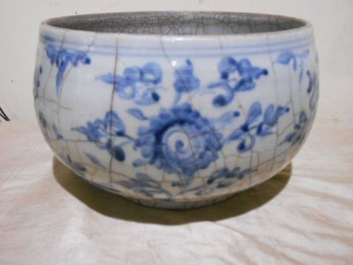 MING BLUE & WHITE CENSER