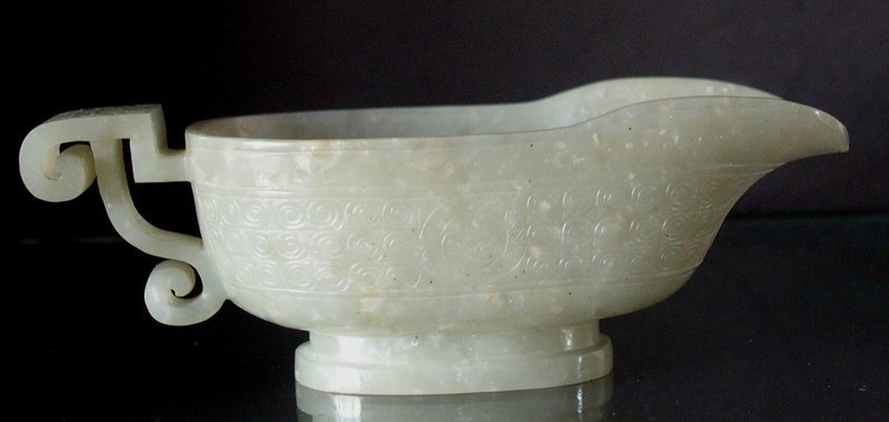 Chinese jade libation cup 17C.