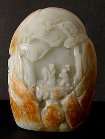 Chinese jade boulder carving