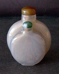 Chinese agate conjoined snuff bottles