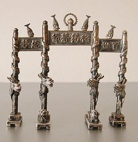 Chinese silver arch Pailou