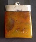 Natural butterscotch amber plaque pendant