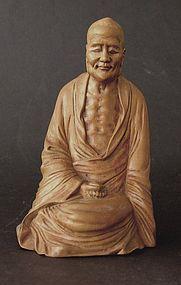 Chinese boxwood figure of Lohan