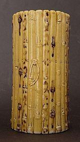 Chinese ceramic brush pot bitong C.1800