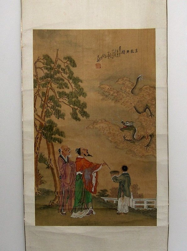 Chinese scroll painting dated corresponding to 1847