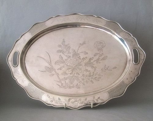 Chinese silver tray