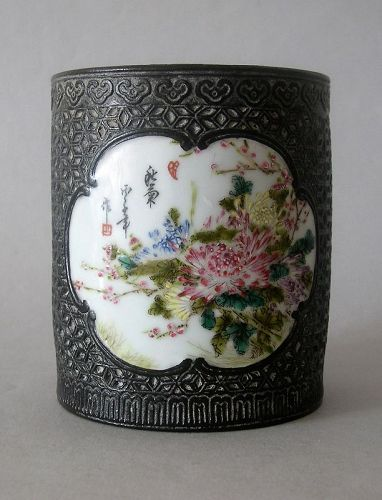 Chinese porcelain bitong imitating bronze look