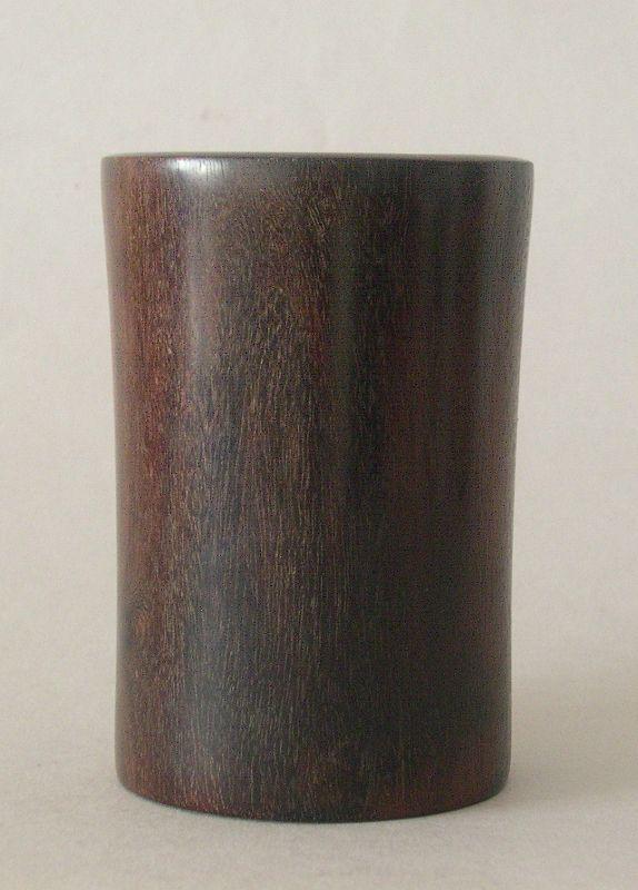 Chinese  antique zitan bitong brush pot