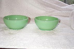 Fire King Jade-ite Chili Bowls Two