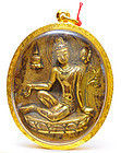 A Himalayan Gilt Bronze Seated Tara