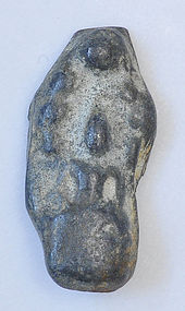 A Thai Lead Alloy Seated Naga Buddha