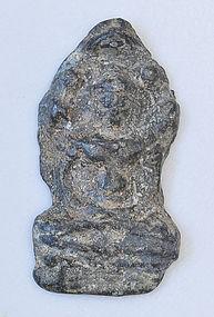 A Thai Lead Alloy Seated Naga Buddha