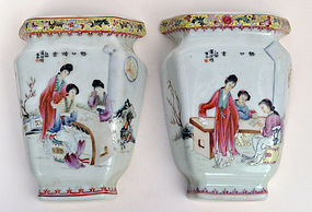 A Pair of Chinese Famille Rose Vase