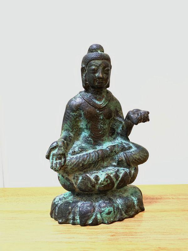 Bronze Gandhara Seated Buddha