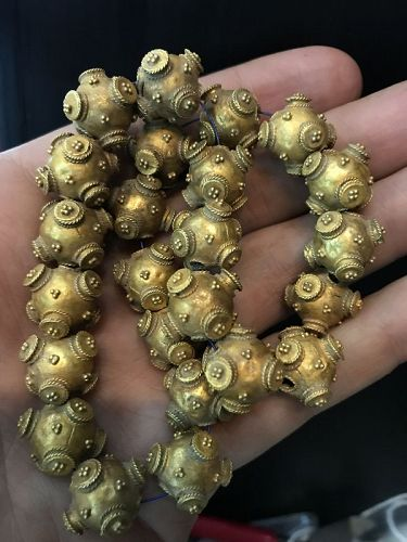 Ancient 18K Gold Bead