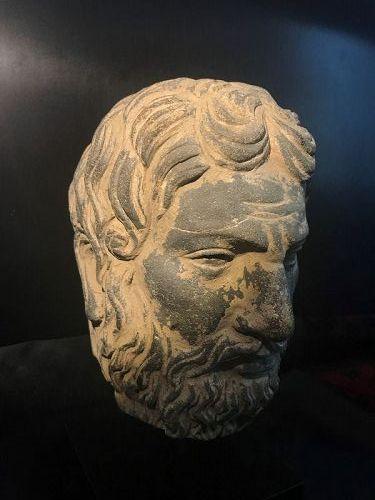 gandhara stone head