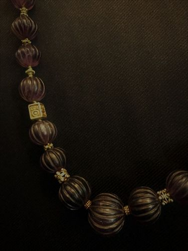 Ancient Burma Amethyst Bead