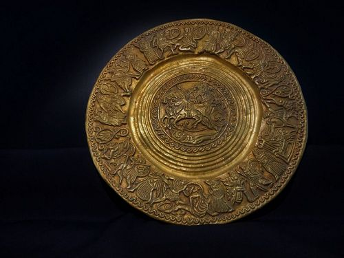ancient roman gold bowl