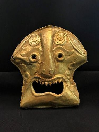 ancient gold mask