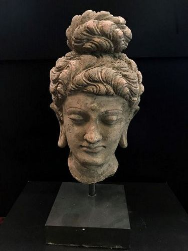 Terracotta Buddha Head