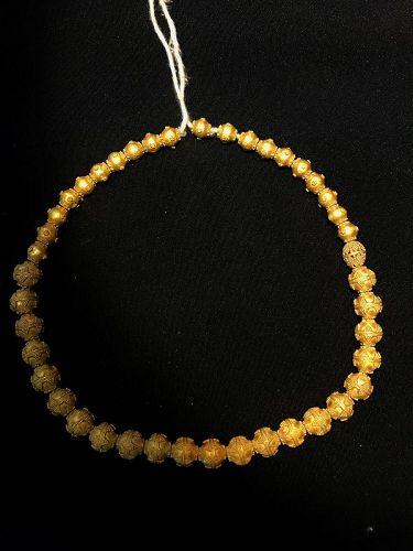 roman gold beads