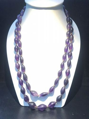 ancient amethyst beads