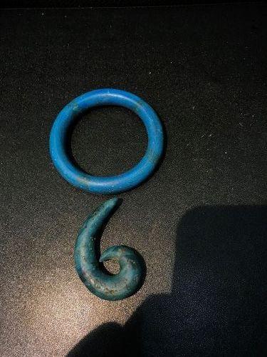 Ancient Glass Bangle Earring