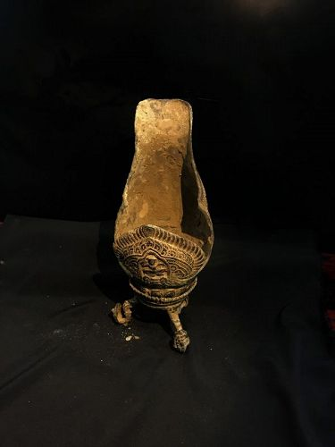 antique khmer bronze